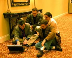 SIGCSE 2005: Elspeth, Dan, Corky and I
