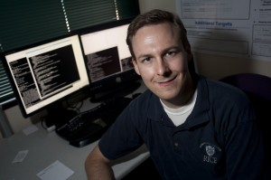 Mathias Ricken is a Ph.D. candidate in computer science at Rice. (Photo by JEFF FITLOW)
