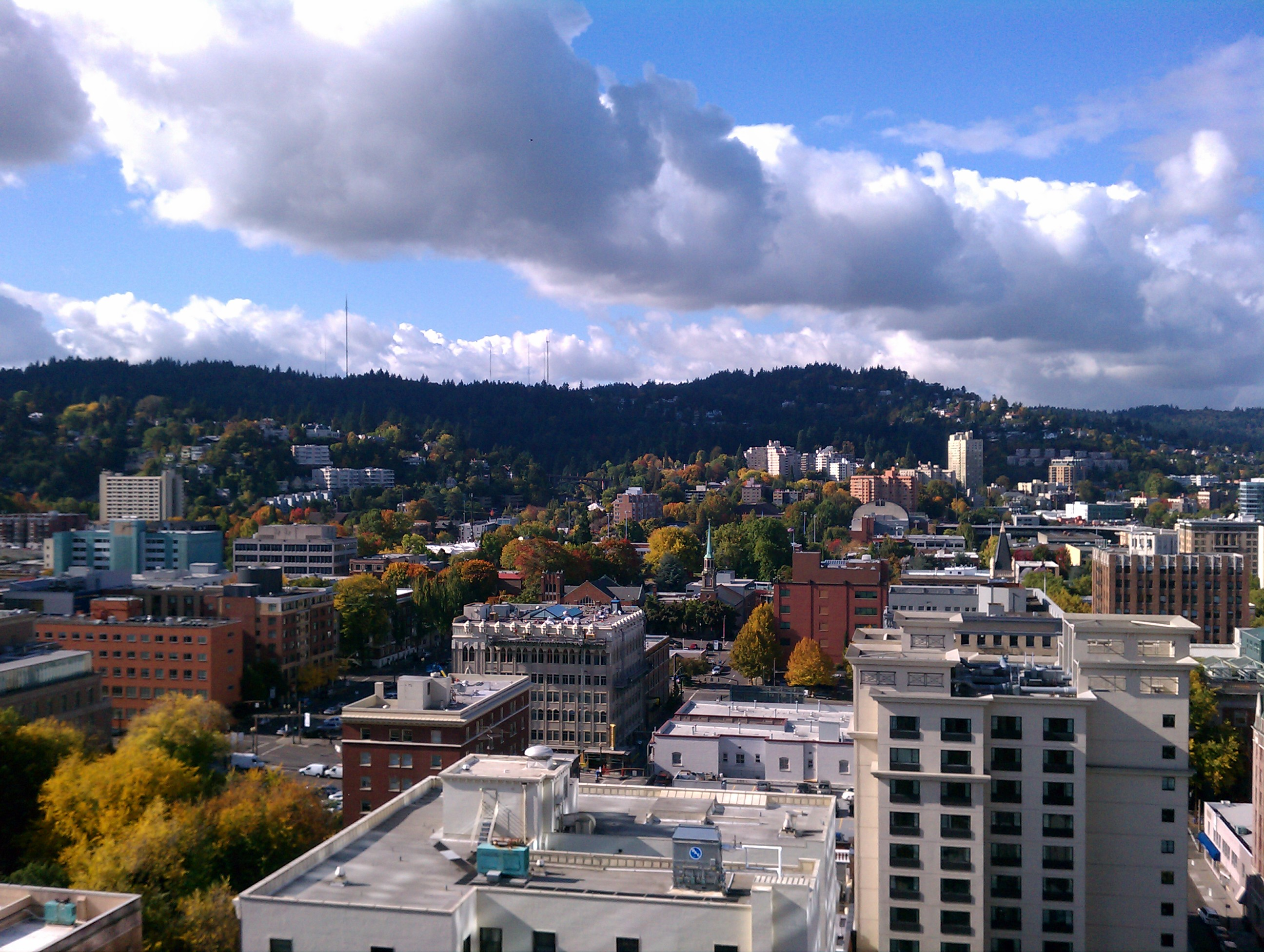 Portland from the top of the Hilton, where the Educators' Symposium was held.