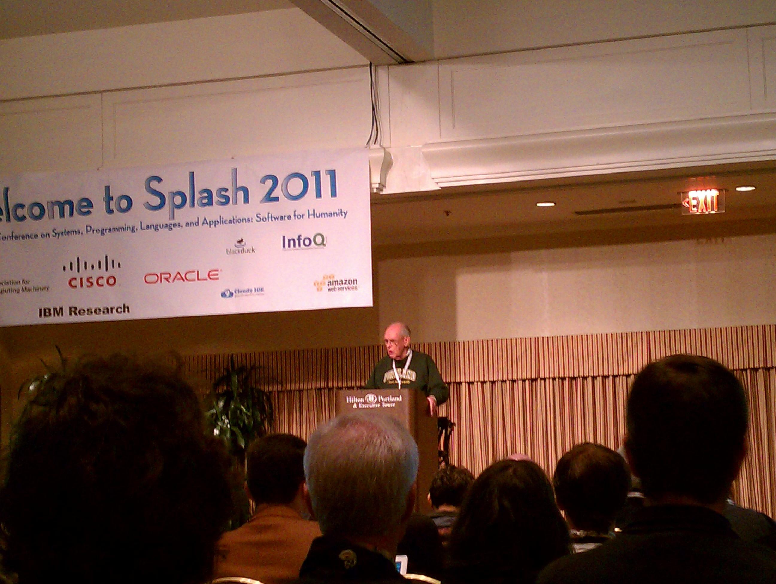 Turing Award-winner Ivan Sutherland speaking.
