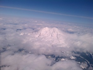 My friend, Mt. Rainier. From 38,000 ft.