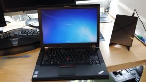 My old Lenovo ThinkPad T410 work laptop.