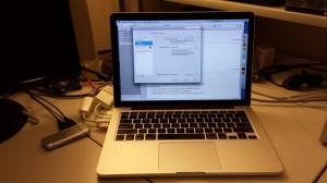 My new MacBook Pro work laptop.