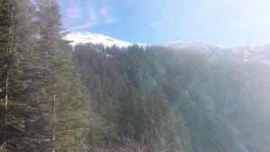 Peaks above Annette Lake.