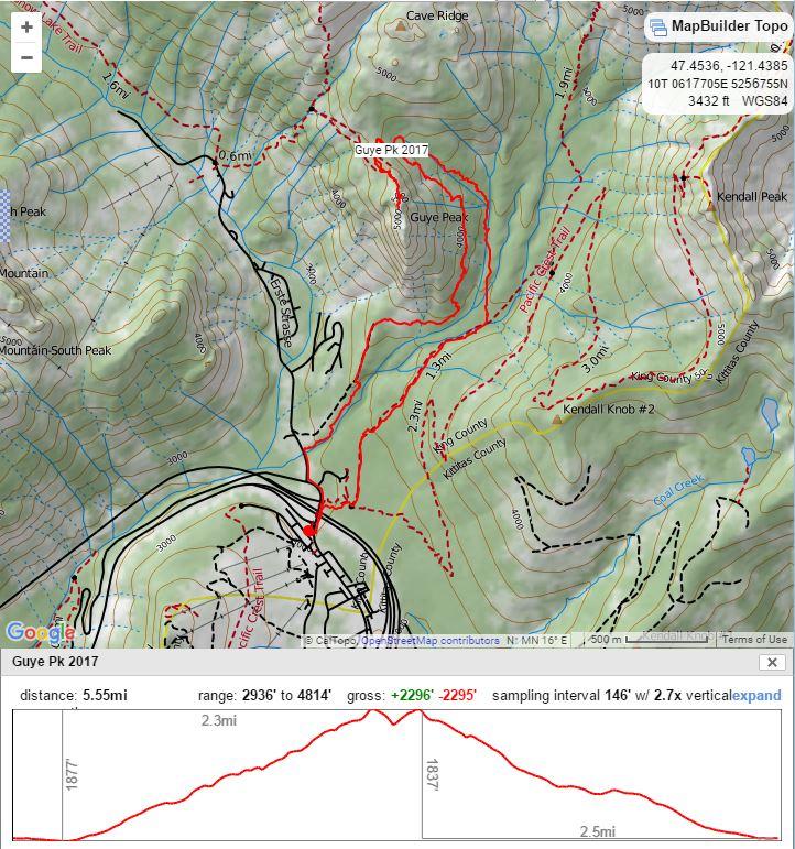 Guye Peak track