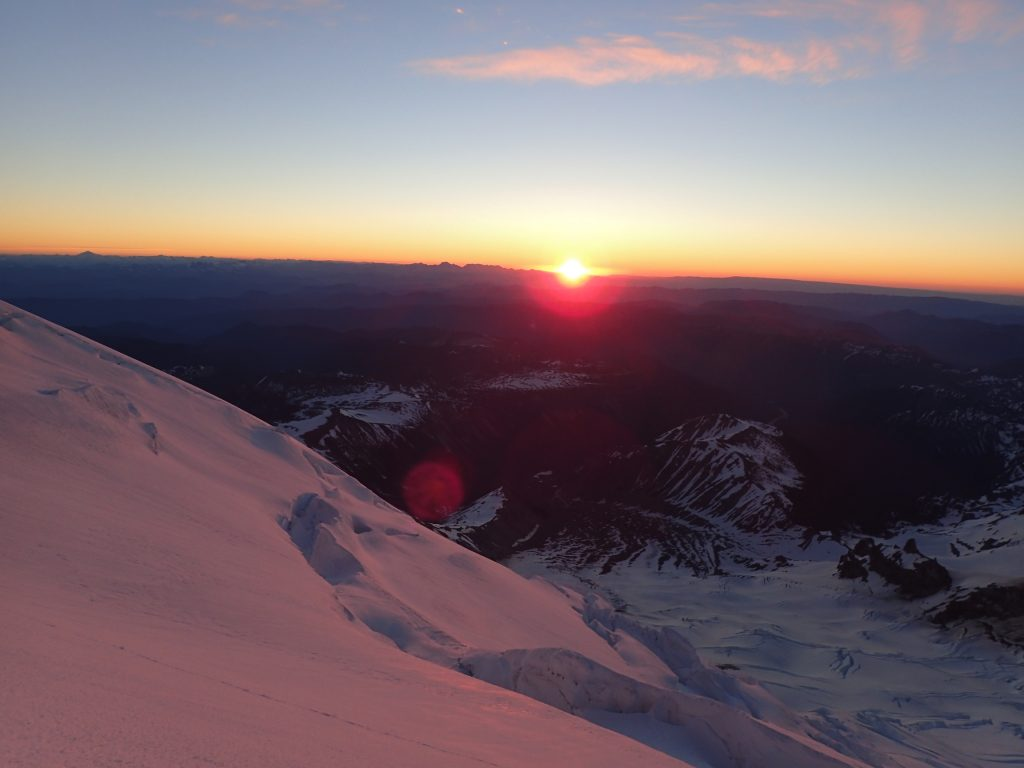 Sunrise at 12,800 feet (picture by Jenny).