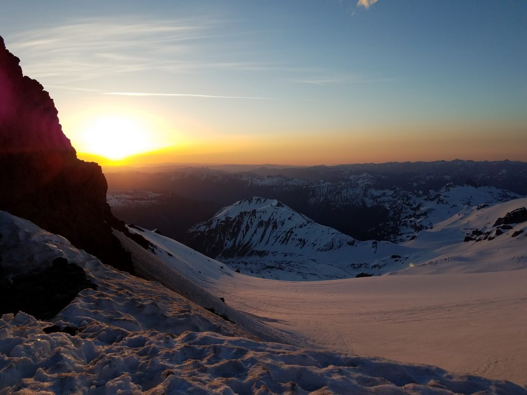 Sunrise at Camp Schurman, Mount Rainier.