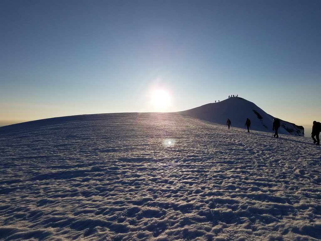 Summit and sunrise.