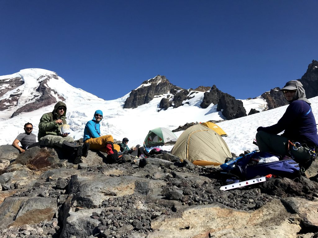 Camp on Saturday at 6800 feet. Photo by Sharon.